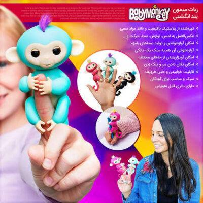 اسباب بازی بچه میمون 2 عددی