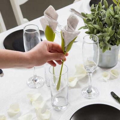 نگهدارنده دستمال سفره طرح گل