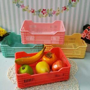 سبد میوه پلاستیکی کوچک 3 عددی
