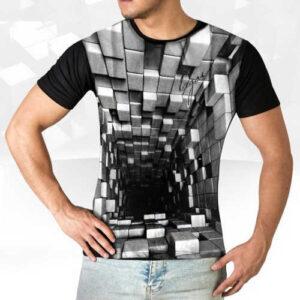 تی شرت سه بعدی blocks