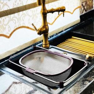 سبد آبکش استیل کشویی